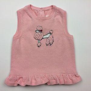 Janie & Jack 6-12 months Pink Poodle Sweater Vest